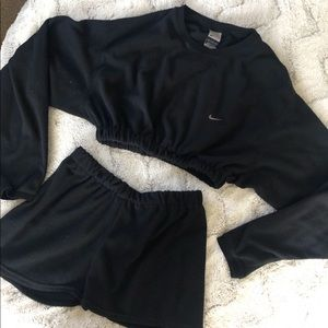Vintage Nike fleece matching sweater shorts set
